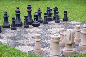 chess in the garden